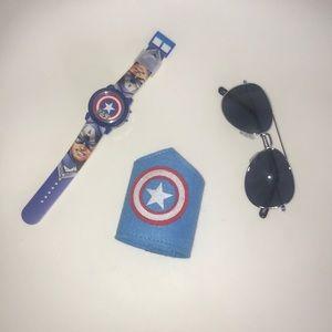 Captain America boys accessories.